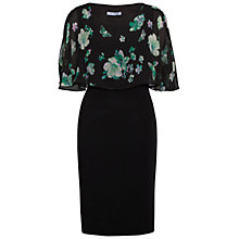 Buy Gina Bacconi Floral Chiffon Moss Crepe Dress, Black/Green Online at johnlewis.com