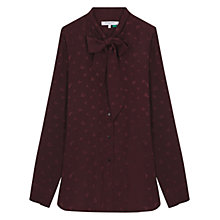 Buy Gerard Darel Serge Blouse, Dark Red Online at johnlewis.com