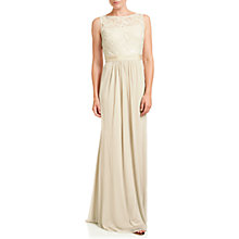 Buy Adrianna Papell Sequin Mesh Gown, Champagne Online at johnlewis.com