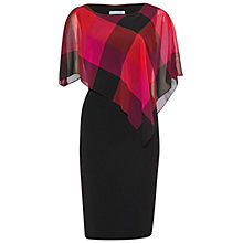 Buy Gina Bacconi Bright Check Chiffon Cape Dress, Multi Online at johnlewis.com