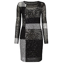 Buy Phase Eight Juana Blocked Sequin Dress, Black/Multi Online at johnlewis.com
