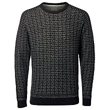 Buy Selected Homme Pattern Crew Neck Jumper, Dark Grey Melange Online at johnlewis.com