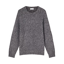Buy Jigsaw Brushed Lambswool Jumper, Pepper Online at johnlewis.com