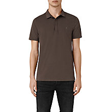 Buy AllSaints Brace Polo Shirt, Pewter Brown Online at johnlewis.com