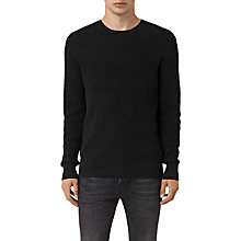 Buy AllSaints Serle Crew Jumper, Black Online at johnlewis.com