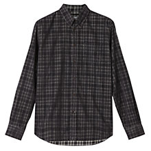 Buy Jigsaw Check Needle Shirt, Grey Online at johnlewis.com