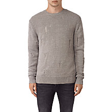 Buy AllSaints Aktarr Crew Jumper, Taupe Online at johnlewis.com