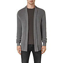 Buy AllSaints Marrin Cotton Cardigan, Grey Online at johnlewis.com