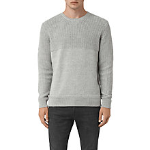 Buy AllSaints Garr Crew Cotton Jumper Online at johnlewis.com