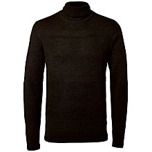 Buy Selected Homme Sailor Roll Neck Jumper, Dark Grey Melange Online at johnlewis.com
