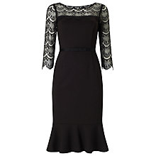 Buy Jacques Vert Lace Detail Dress, Black Online at johnlewis.com