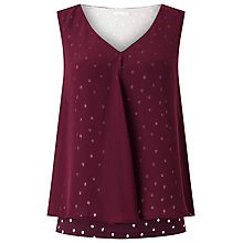 Buy Jacques Vert Jersey Textured Top, Red Online at johnlewis.com