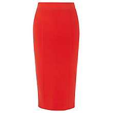 Buy Karen Millen Ribbed Knit Skirt, Orange Online at johnlewis.com