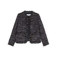 Buy Gerard Darel Tartan Jacket, Navy Blue Online at johnlewis.com