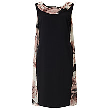 Buy Jacques Vert Printed Drape Cape Dress, Multi/Black Online at johnlewis.com
