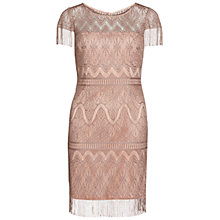 Buy Gina Bacconi Metallic Fringe Lace Dress, Steel Online at johnlewis.com