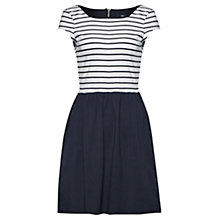 Buy French Connection Eso County Stripe Dress, White/Utility Blue Online at johnlewis.com