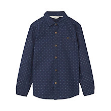 Buy Mango Kids Boys' Printed Shirt, Blue Online at johnlewis.com