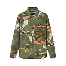 Buy Mango Kids Boys' Printed Shirt, Green Online at johnlewis.com