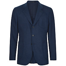Buy Jaeger Wool Cotton Slim Jacket, Indigo Online at johnlewis.com