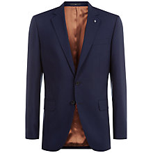 Buy Jaeger Wool Regular Fit Travel Suit Jacket, Navy Online at johnlewis.com