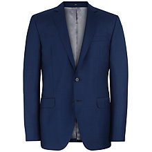 Buy Jaeger Basketweave Wool Slim Suit Jacket, French Navy Online at johnlewis.com