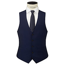 Buy John Lewis Woven in Italy Mohair Tonic Tailored Waistcoat, Blue Online at johnlewis.com