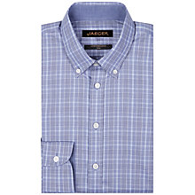 Buy Jaeger Prince of Wales Slim Shirt, Navy Online at johnlewis.com