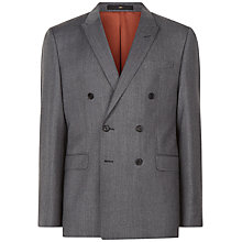 Buy Jaeger Wool Twill Slim Suit Jacket, Grey Online at johnlewis.com
