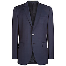Buy Jaeger Windowpane Wool Regular Fit Suit Jacket, Navy Online at johnlewis.com