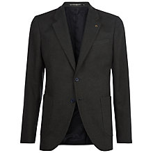 Buy Jaeger Brushed Cotton Slim Fit Blazer, Olive Online at johnlewis.com