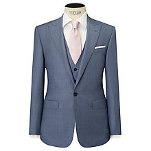 Buy John Lewis Woven in Italy Sharkskin Half Canvas Tailored Suit Jacket, Ice Blue Online at johnlewis.com