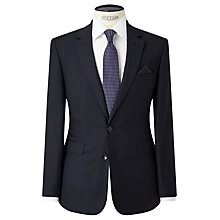 Buy John Lewis Semi Plain Super 100s Wool Travel Suit Jacket, Navy Online at johnlewis.com