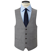 Buy John Lewis Woven in Italy Super 120s Wool Check Tailored Waistcoat, Grey Online at johnlewis.com