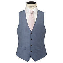Buy John Lewis Woven in Italy Sharkskin Tailored Waistcoat, Ice Blue Online at johnlewis.com