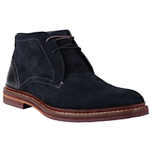 Buy Ted Baker Azzlan Chukka Boots, Dark Blue Online at johnlewis.com
