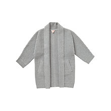 Buy Jigsaw Girls' Longline Cardigan, Light Grey Online at johnlewis.com