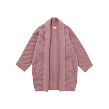 Buy Jigsaw Girls' Longline Cardigan, Heather Online at johnlewis.com
