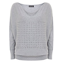 Buy Mint Velvet Sequin Batwing Jumper, Grey Online at johnlewis.com