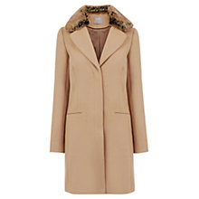Buy Oasis Felicity Formal Faux Fur Collar Coat, Camel Online at johnlewis.com