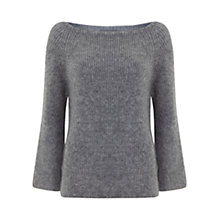 Buy Mint Velvet Granite Fluffy Flared Sleeve Jumper, Grey Online at johnlewis.com