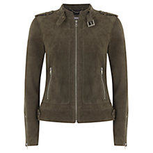 Buy Mint Velvet Suede Bomber Jacket Online at johnlewis.com