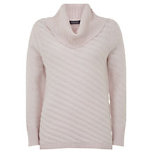 Buy Mint Velvet Rib Stitch Jumper, Pale Pink Online at johnlewis.com