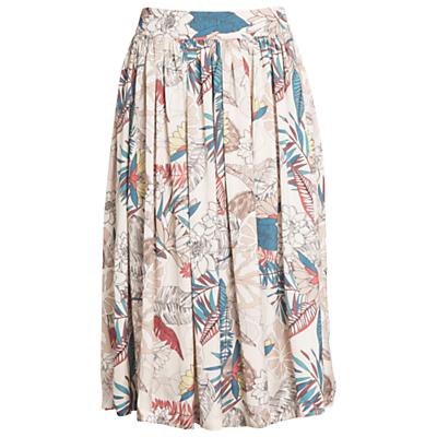 Urban Touch Floral Print Midi Skirt, Mulitcolour