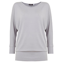Buy Mint Velvet Neck Batwing T-Shirt, Purple Online at johnlewis.com