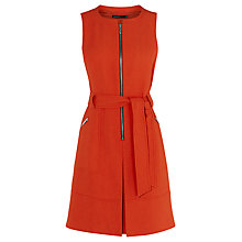 Buy Karen Millen Zip-Front Dress, Orange Online at johnlewis.com