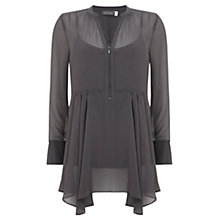 Buy Mint Velvet Fluted Hem Blouse, Grey Online at johnlewis.com