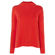 Buy Karen Millen Funnel Neck Knit Jumper, Orange Online at johnlewis.com