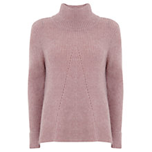 Buy Mint Velvet Pointelle Jumper, Pale Pink Online at johnlewis.com