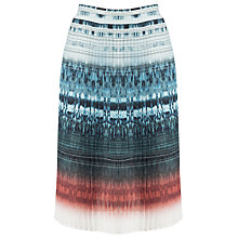 Buy Urban Touch Printed Pleated Midi Skirt, Multicolour Online at johnlewis.com